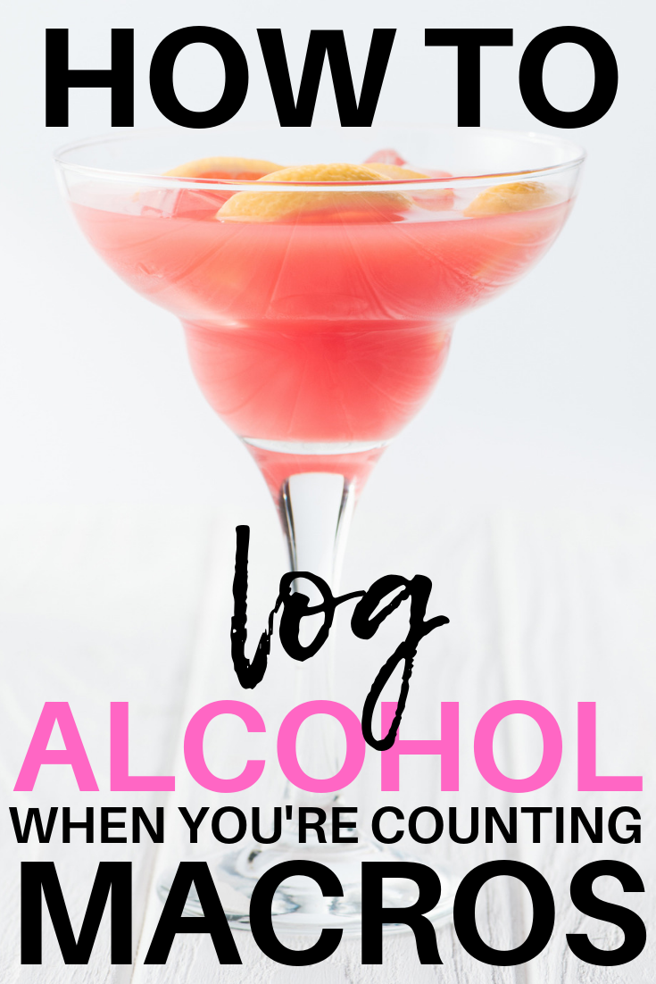 HOW TO LOG ALCOHOL WHEN COUNTING MACROS